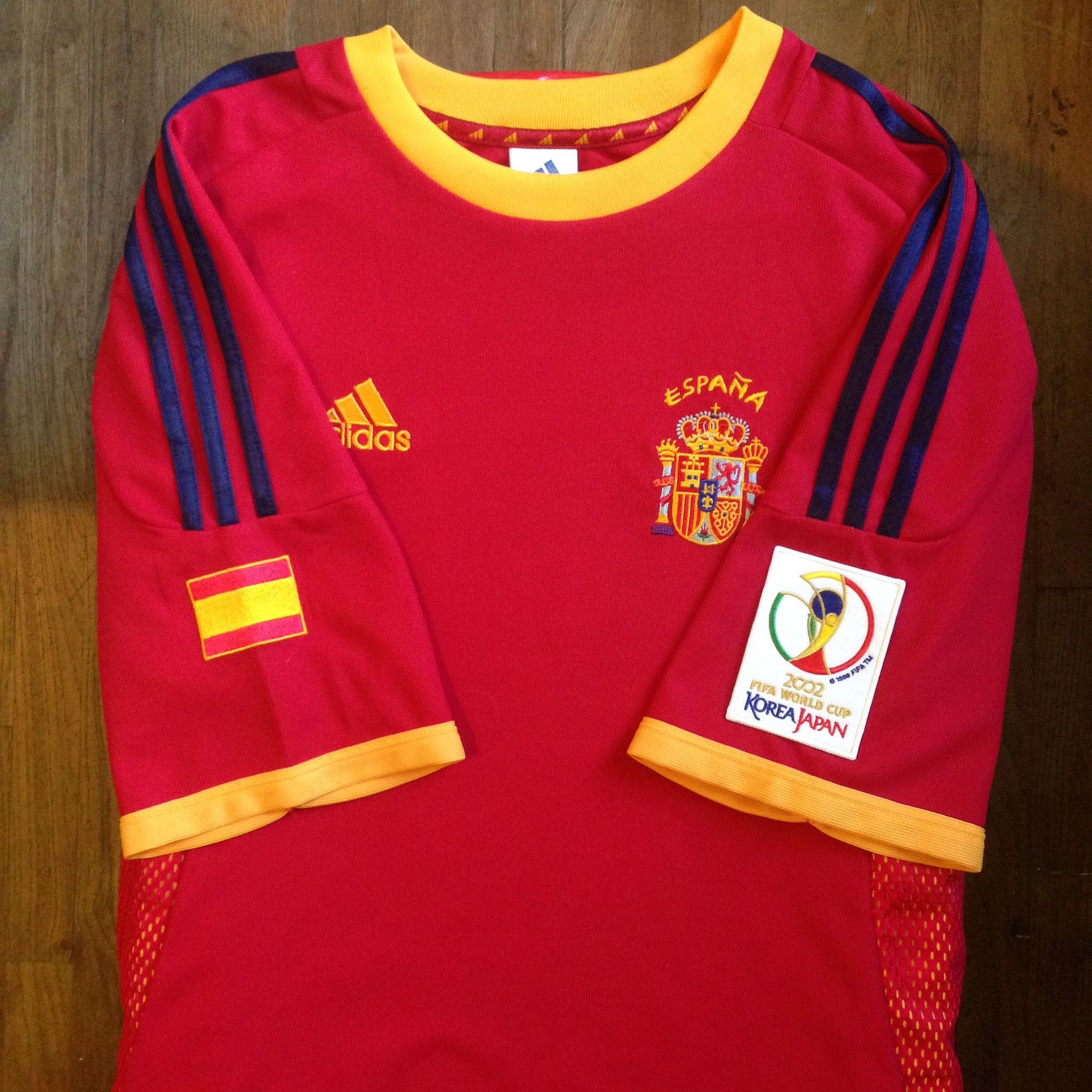 2002 Korea Japan Fifa World Cup Spain Home Jersey In 2020 Fifa Fifa World Cup World Cup