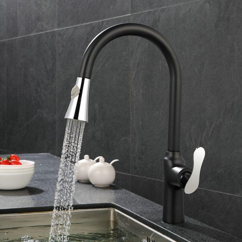 Retro Küchenarmatur Schwarze Ausziehbar Antik Wasserhahn Pinterest - armatur küche ausziehbar