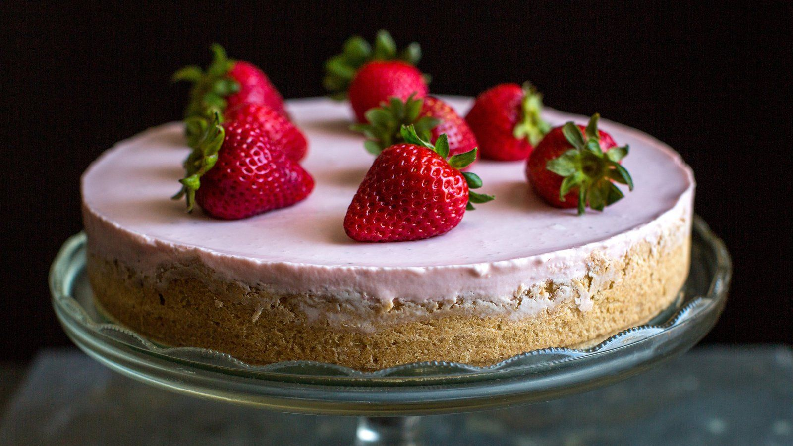 Double Strawberry Cheesecake Recipe Strawberry Cheesecake Recipe Cheesecake Recipes Layered Cheesecake Recipe