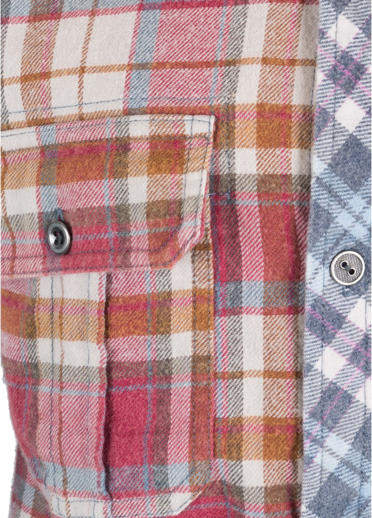 Flannel jacket with elbow patches  Artisan de Luxe Janis Button Down Work Shirt  Red and Blue Plaid