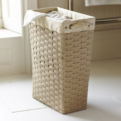 Slim Woven Laundry Basket In Laundry Baskets And Bins At Lakeland