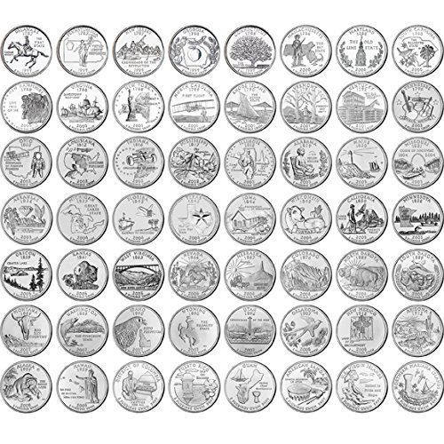 Complete Uncirculated State Quarter Set With Folder At - Rare us state quarters