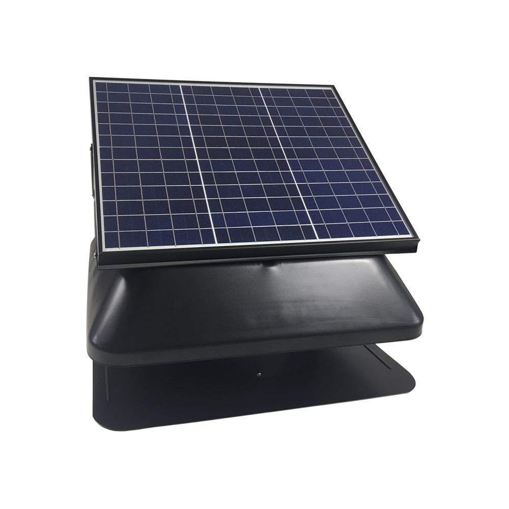 Solar Powered Roof Mount Adjustable Attic Fan With 30 Watt Polycrystalline Solar Panel Solar Panels Solar Panel Kits Best Solar Panels
