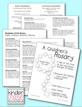 A Children S Rosary Prayer Guide For Students Teachers And Parents Rosary Prayer Guide Rosary Prayer Learning To Pray