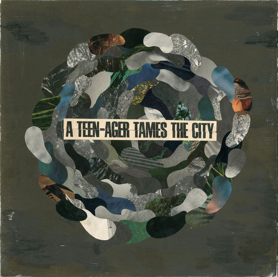 """""""A TEEN-AGER TAMES THE CITY"""" for MUSIC ILLUSTRATION AWARDS 2014 front"""