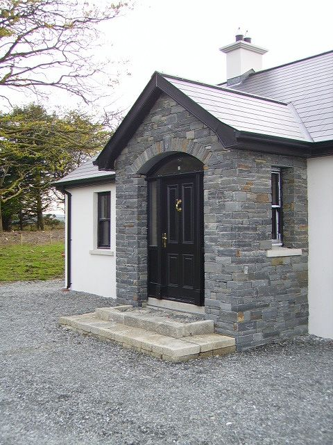Liscannor Front Door Side On Stone Porches House With Porch Bungalow Porch