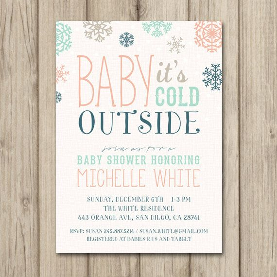 Winter baby shower invitation baby its cold outside tribal winter baby shower invitation baby its cold outside tribal christmas printable baby shower filmwisefo