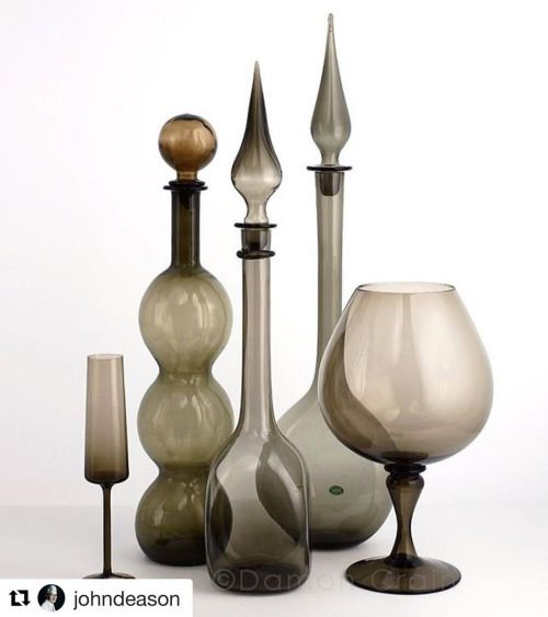 Just one of the many vignettes of vintage #Empoli glass now in our shop! (at Michele Varian)