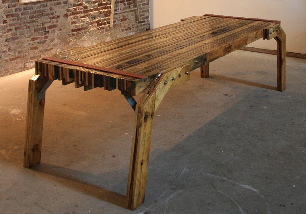 Roman levi interieur ontwerp design tafel handgemaakt for Tafel ontwerp