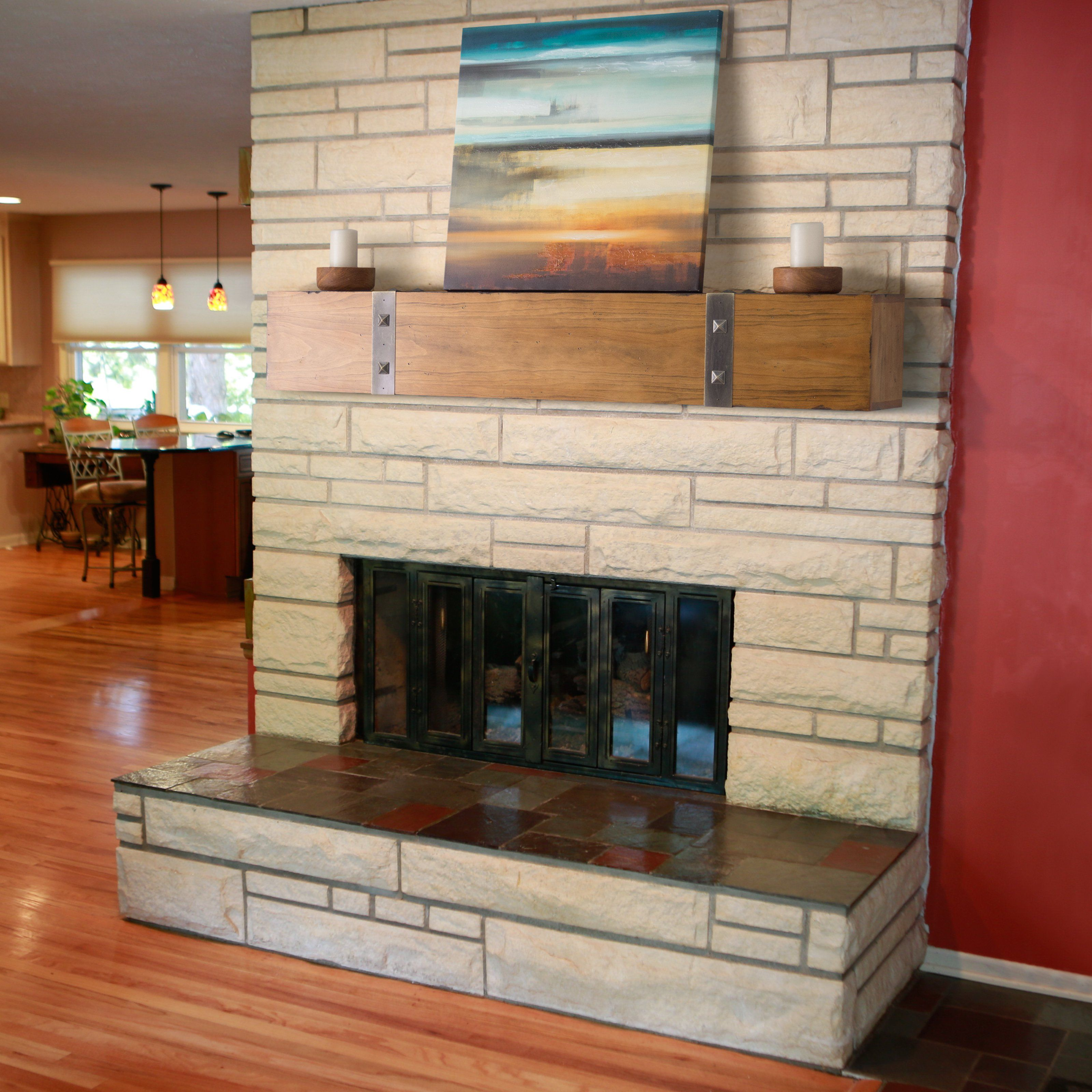 Belham living rustic timber beam fireplace mantel from hayneedle