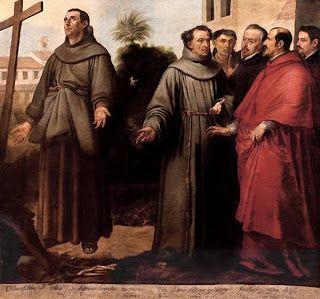 Murillo. Claustro de San Francisco el chico. 1645-46. San Diego en éxtasis ante la Cruz - Musée des Agustins (Toulouse) 171x185 cm