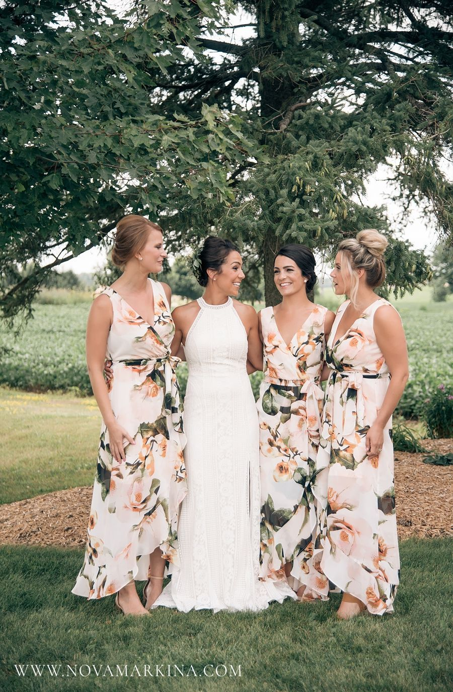 Summer Country Wedding Jacqueline Bryan Summer Bridesmaid Dresses Floral Bridesmaid Dresses Wedding Bridesmaid Dresses