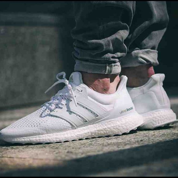 Men's ultra boost in all white Brand new adidas ultra boost as seen on Kanye  west