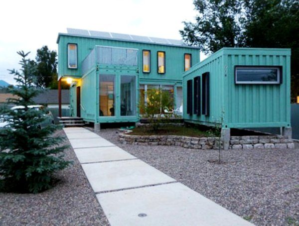 A Green Family Home Made from Recycled Shipping Containers. I like that  there are many