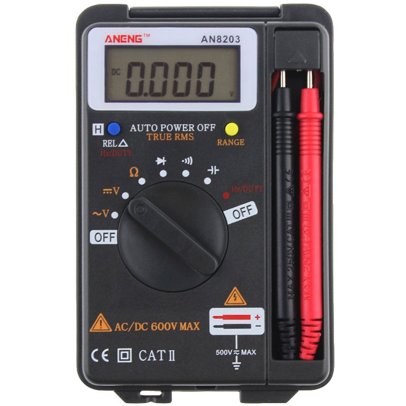 Aneng An8203 4000 Counts True Rms Mini Digital Multimeter Voltage Resistance Frequency Capacitance Tester Multimeter Rms Digital