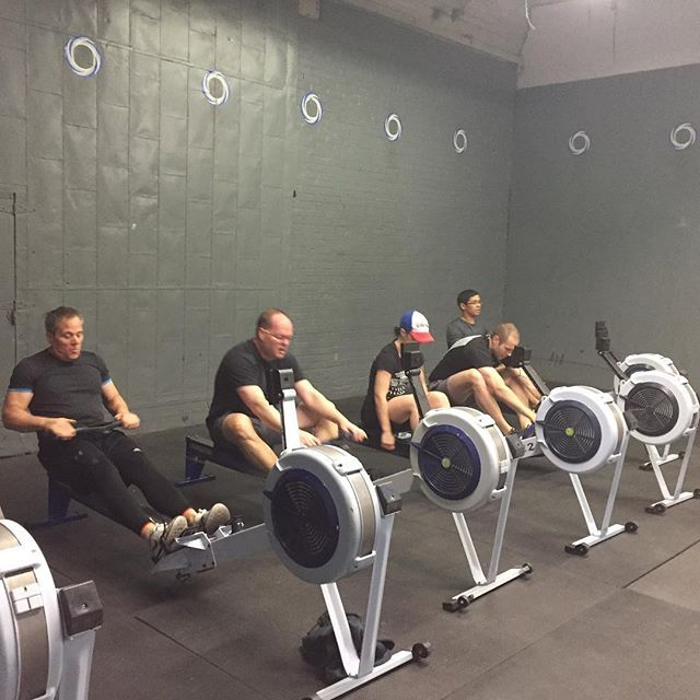 Am class getting their rowing in crossfit crossfittoronto