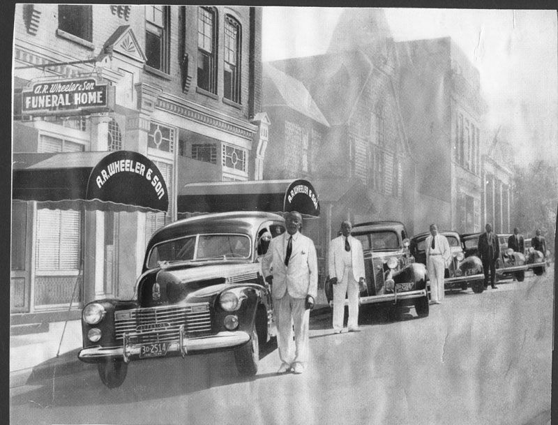 Fleet Of A R Wheeler And Son Funeral Home Knoxville Tn 1941