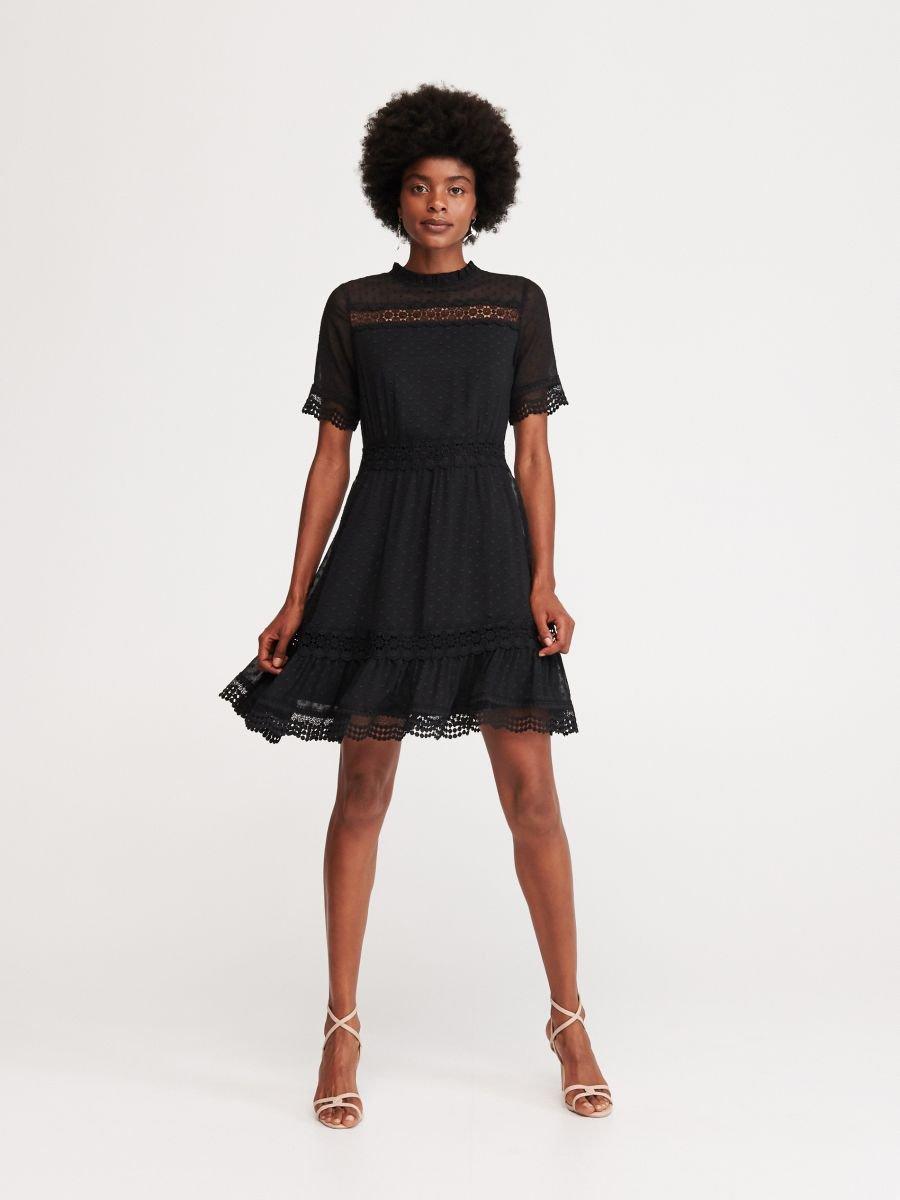 Sukienka Z Tkaniny Plumeti Reserved Wu742 99x Dresses Fashion Dresses For Work