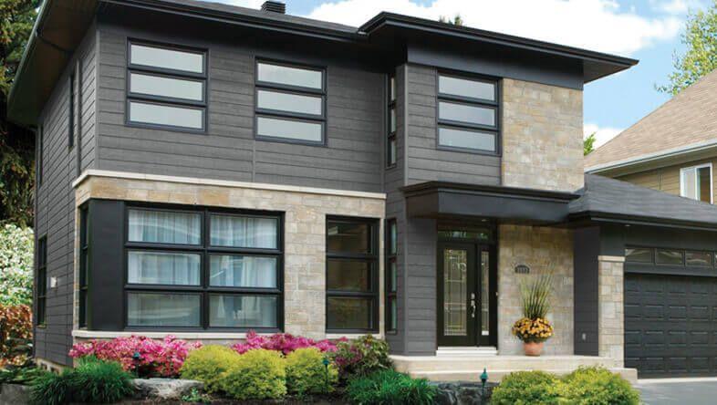 Synthetic Wood Lap Siding Lp Smartside Engineered Wood Siding Exterior Design House Exterior