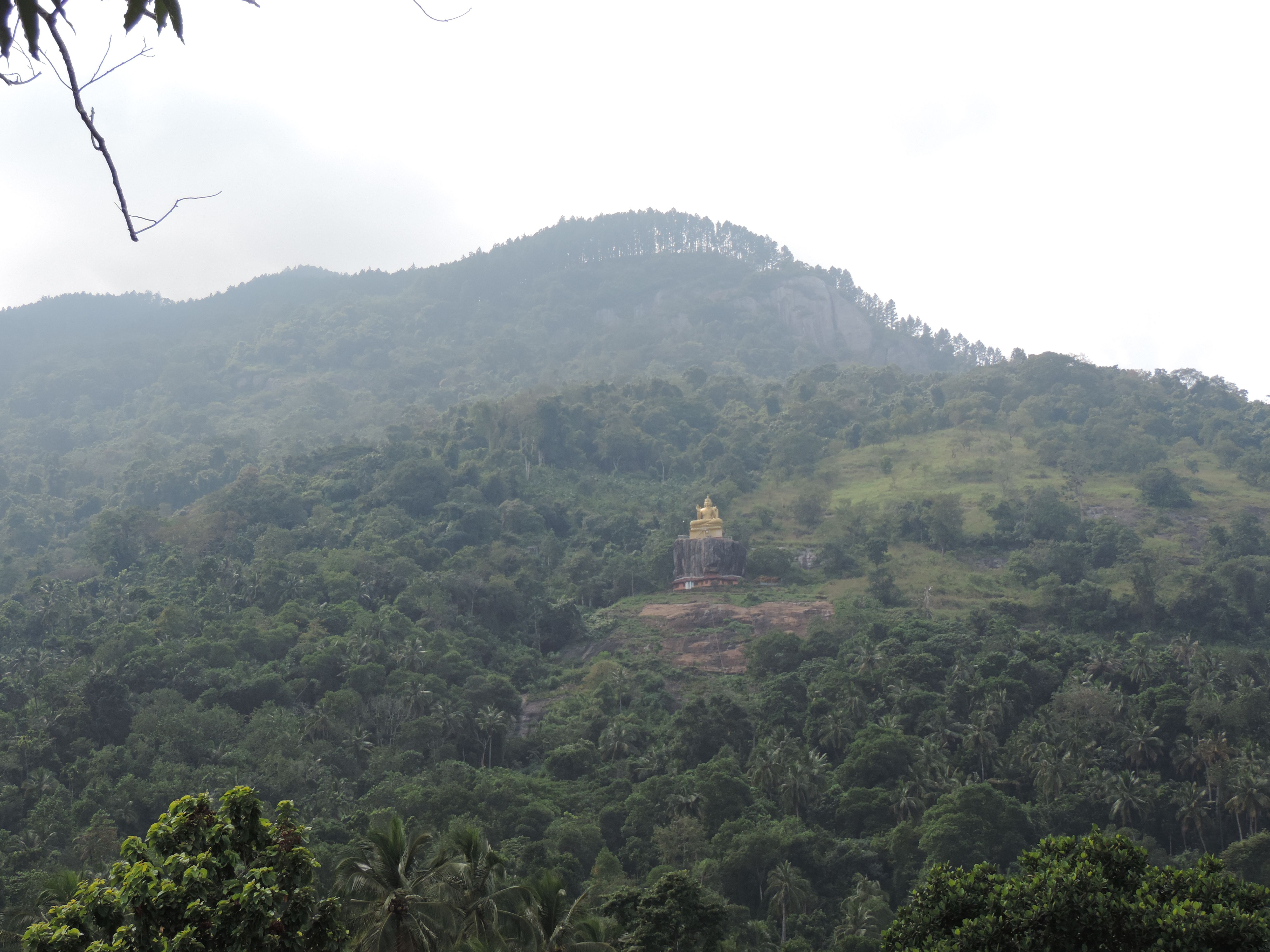 A new Buddha statue up in the hills - 1 km from the temple.