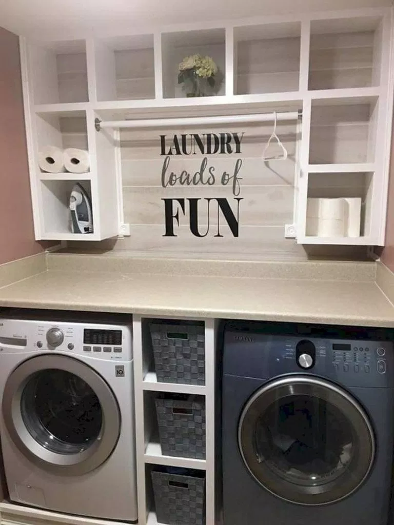 51 Beautiful And Simple Small Laundry Room Decorating Ideas To