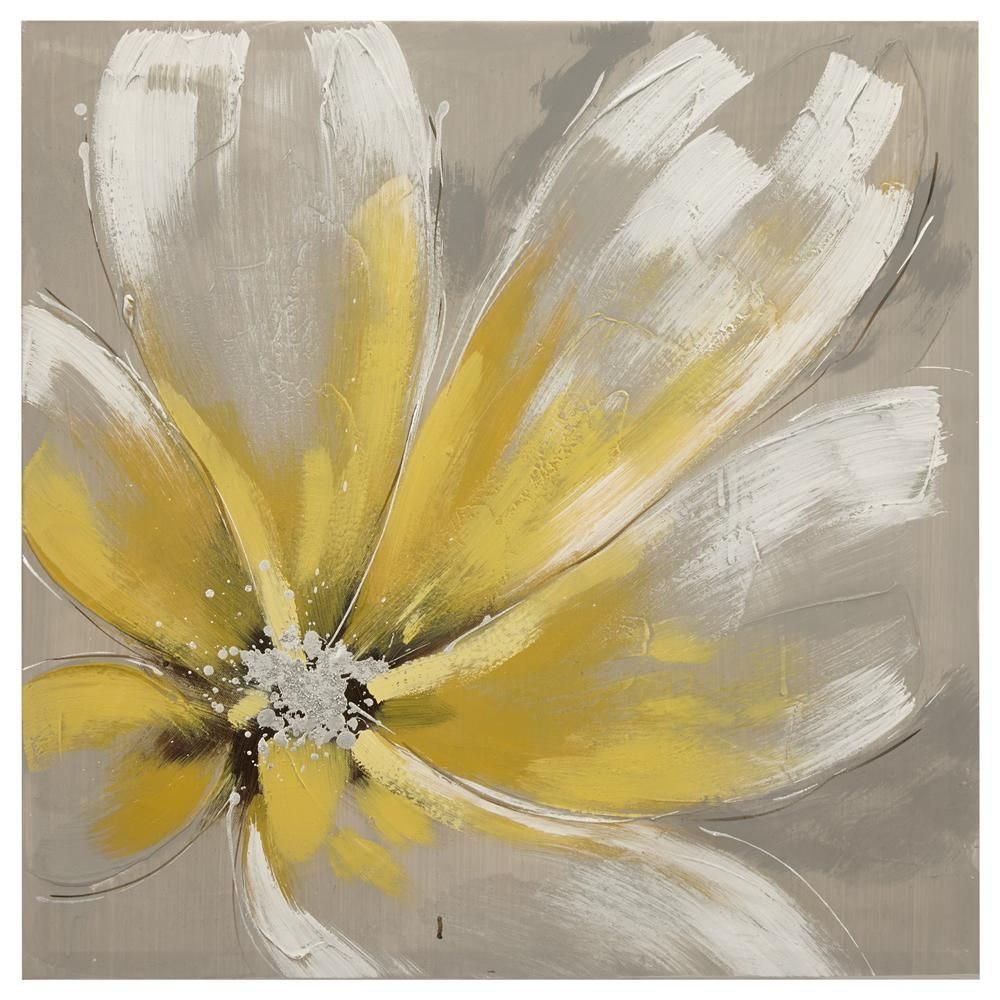 Canvas - Flower Oil Painting | Framed art walls, Art walls and Wall ...