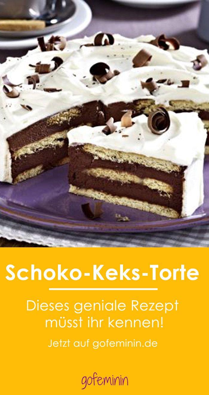 Schoko Keks Torte Das Beste Rezept Kuchen Und Torten Susses Backen Leckereien