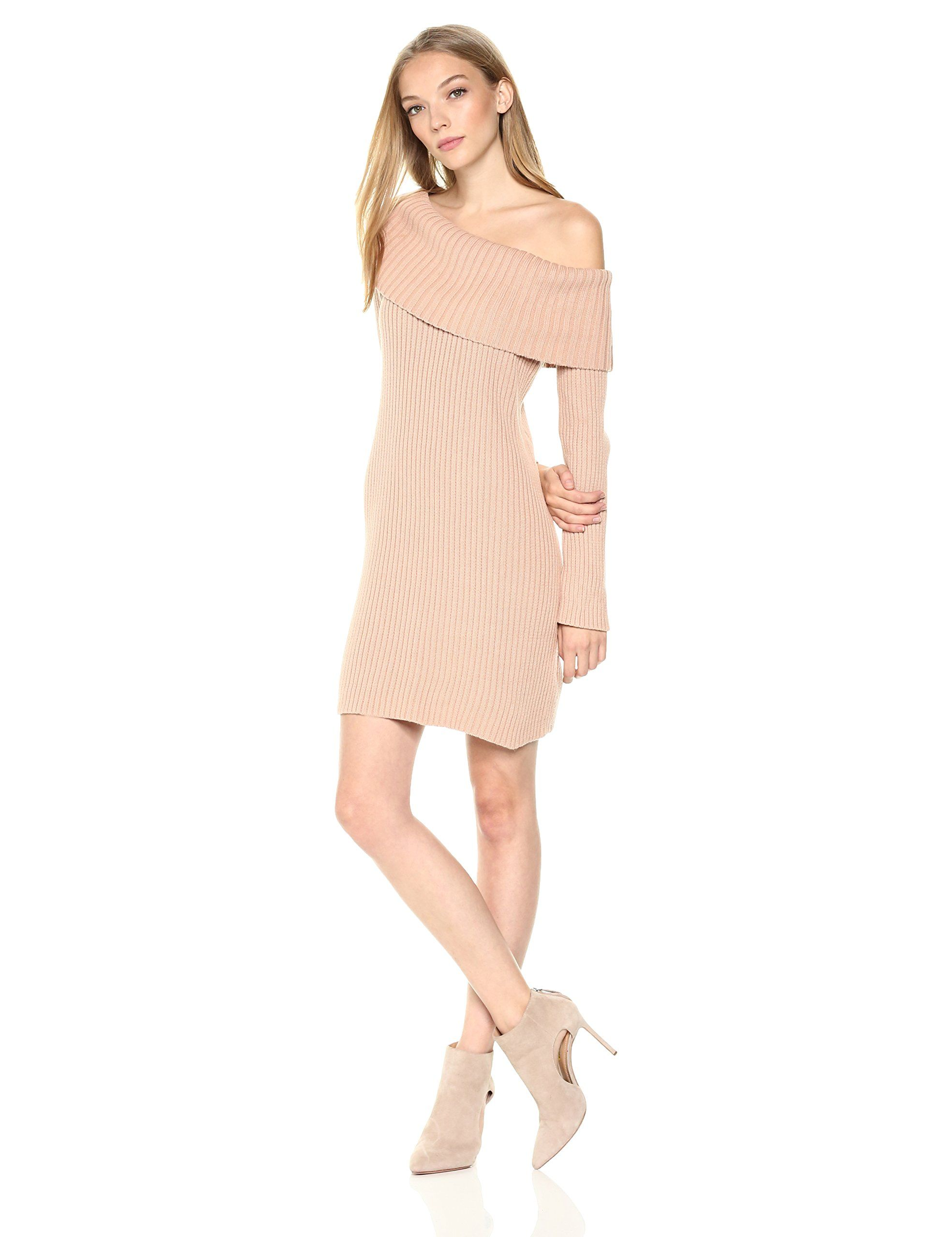 d7b99d8bdb3 Somedays Lovin Womens Like a Melody Off The Shoulder Sweater Dress Dusty  Pink XSmall