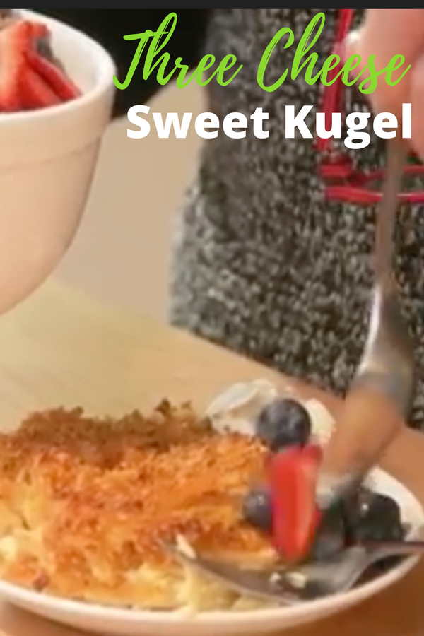 Three Cheese Sweet Kugel | Rezept | Side dishes | Pinterest