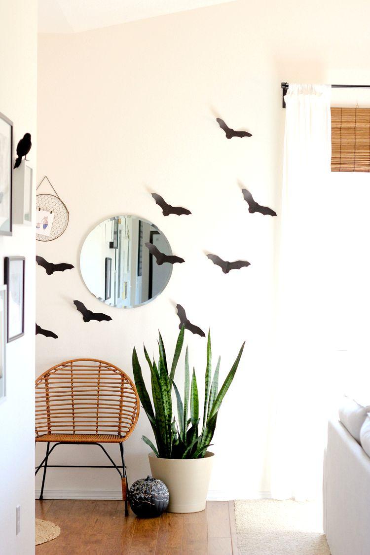 DIY Paper Halloween Houses and paper decor  wwwdeliacreates - halloween diy decor