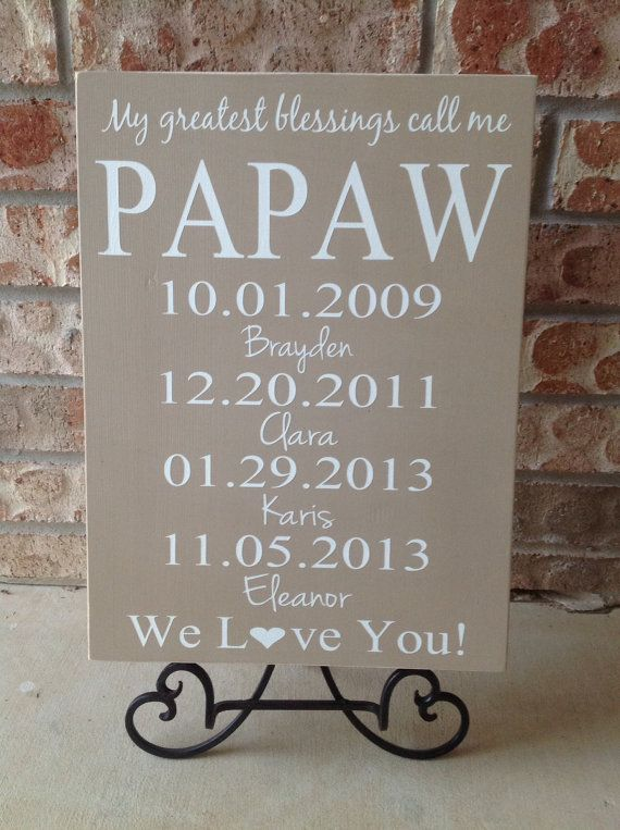 Personalized Dads Gift  Dads Greatest by CastleInnDesigns on Etsy, $39.95