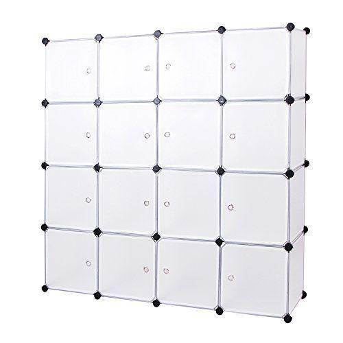 606920782170 Songmics Interlocking Storage Cube Organiser Shelf / Shoe Rack ...
