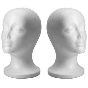 Female Styrofoam Foam Mannequin Manikin Head Wig Display Hat Glasses Stand Women Ebay Mannequin Display Hat Display Manikins