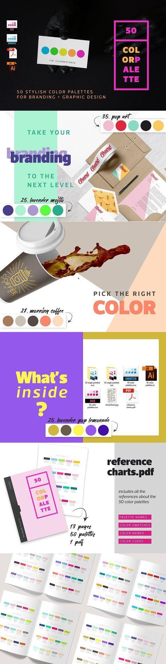 50 Color Palettes For Branding. Palettes 50 Color Palettes For Branding. Palettes -  -