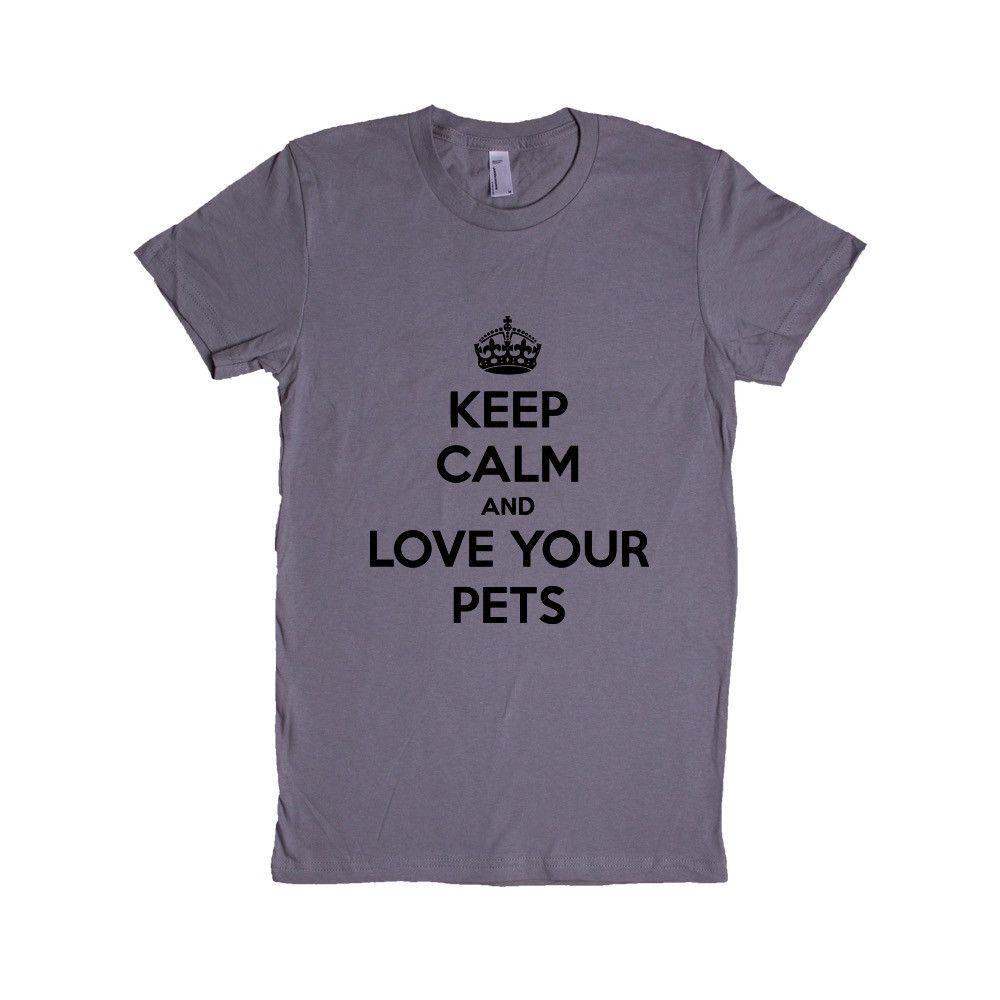 Keep Calm And Love Your Pets Many Pets Cats Dogs Ferrets Fish Birds Rescue All Of Them Lover Animals Gift Funny SGAL1 Women's Shirt