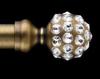 diamond bronze finial curtain rods