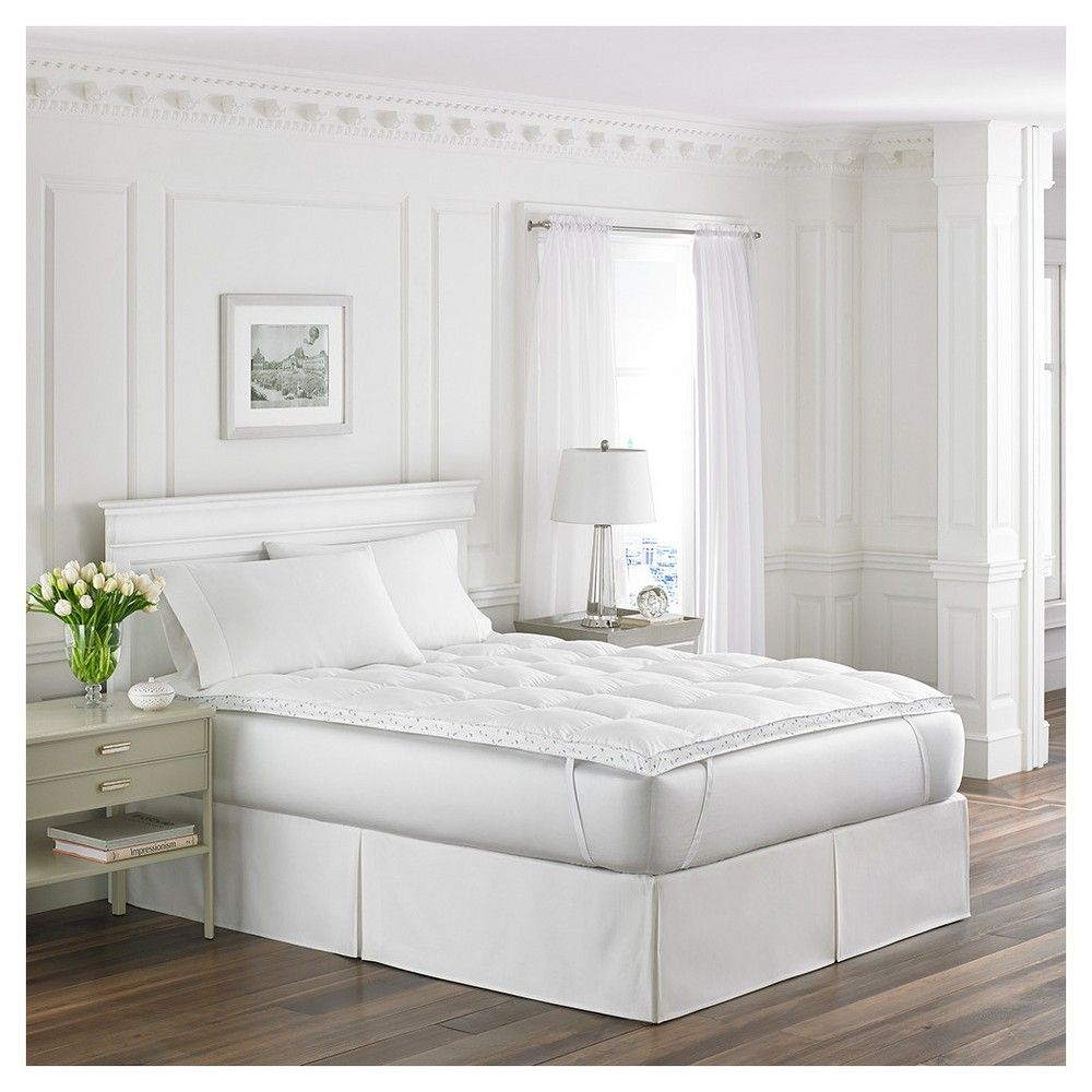 Abbeville Down Alternative Fiber Bed Topper (King) White