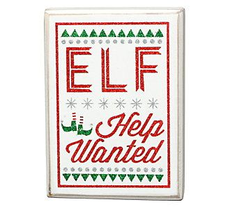 Christmas Help Wanted.Primitives By Kathy Christmas Box Sign Scheels It S The