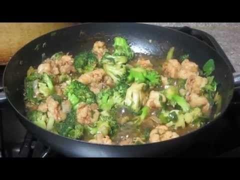 Brocoli Con Camarones - Comida China.