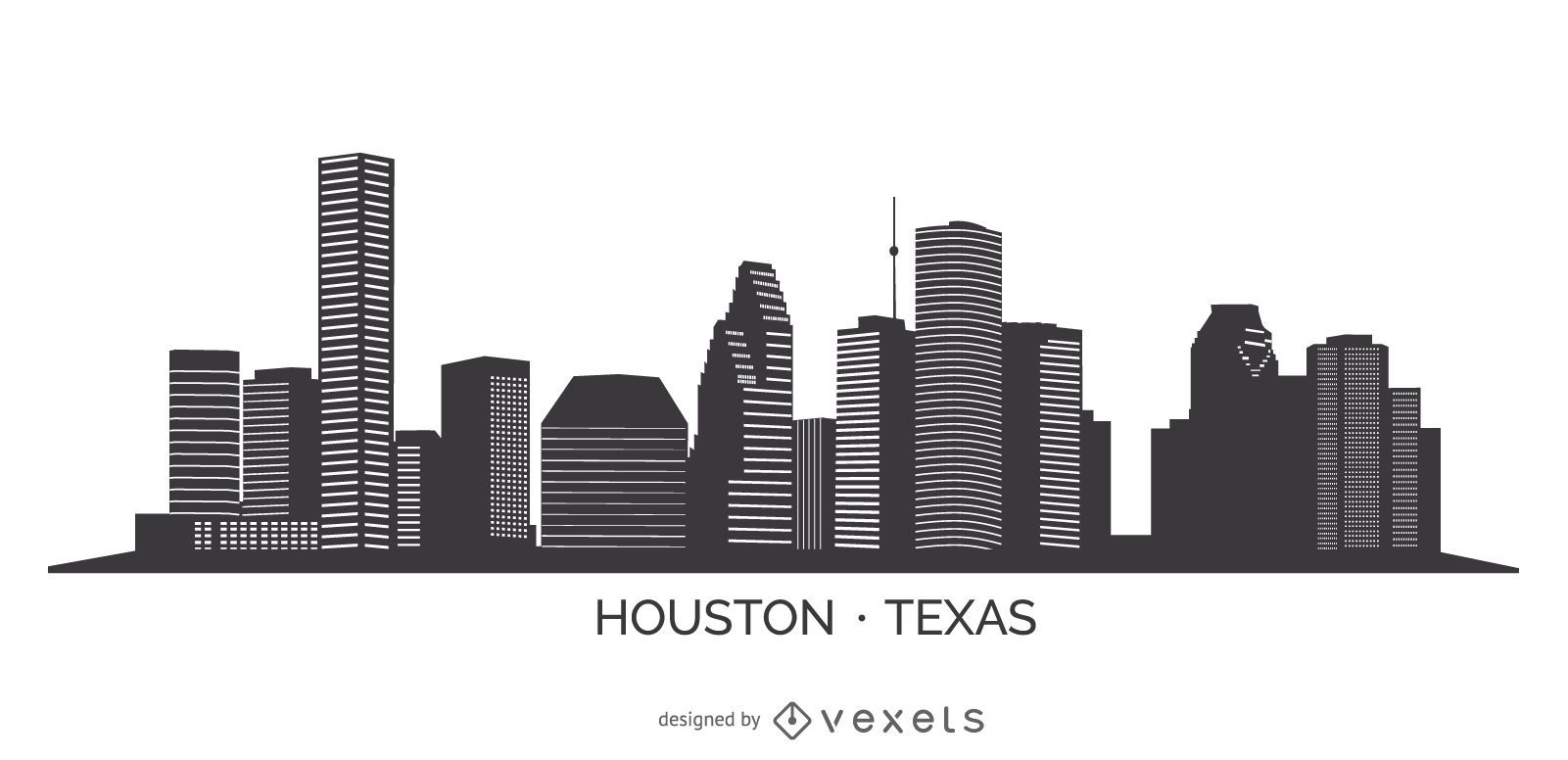 Houston Skyline Silhouette Houston Skyline Skyline Silhouette Skyline Drawing