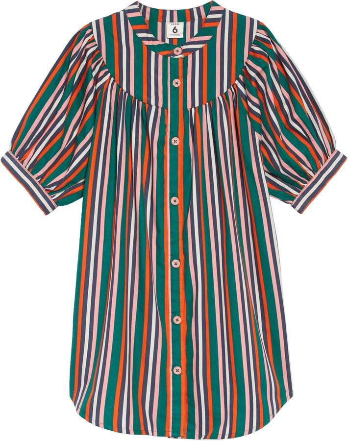 89e8fe5f2 Stem Party Stripe Dress Toddler Girl Dresses, Toddler Girls, Stripe Dress,  Cotton Dresses