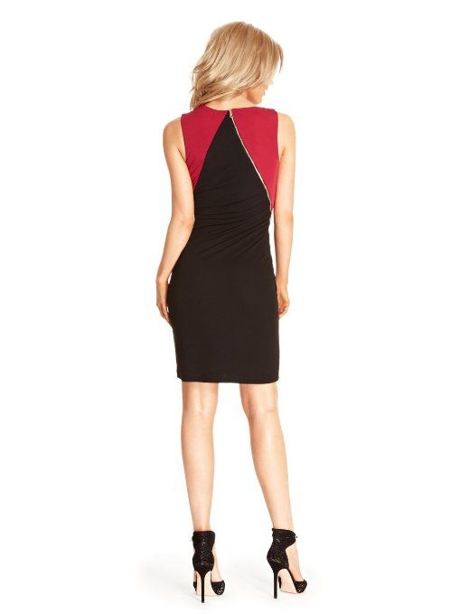 Vintage 1940s Color Block Swag Dress: GUESS By Marciano Women's Mayo Color-Block Dress