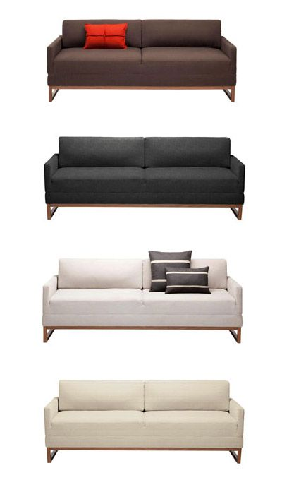 Blu Dot diplomat sleeper sofa Modern Furniture Zinc Details