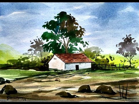Simple Watercolor Landscape Painting Watercolor Painting For Beginners Youtube Watercolor Landscape Paintings Watercolor Landscape Watercolor Paintings Easy