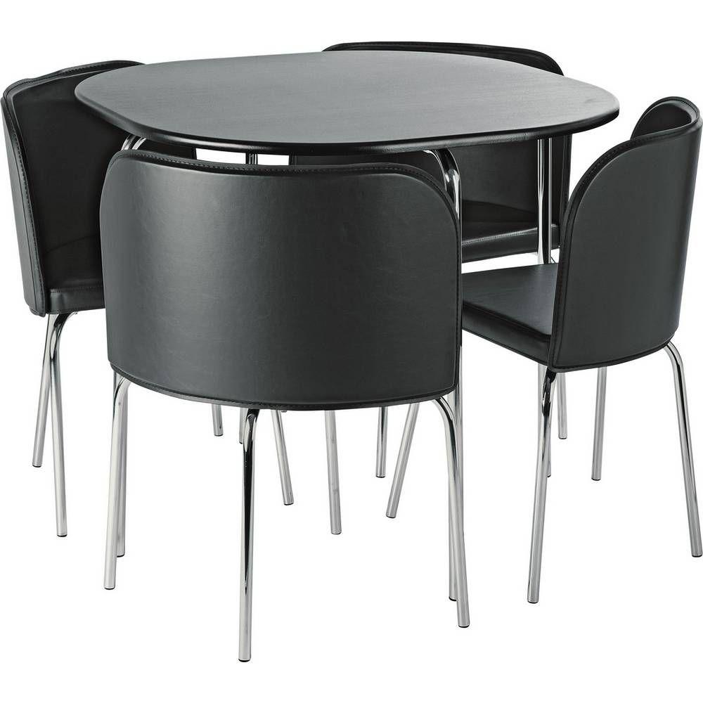 Buy Argos Home Amparo Black Dining Table & 4 Black Chairs ...