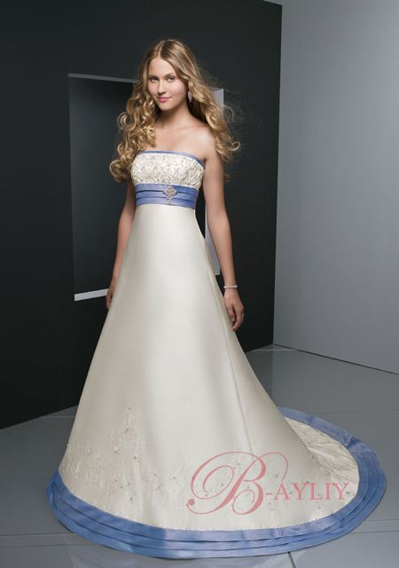 Non Traditional, Blue Wedding Dress white and blue wedding dresses ...