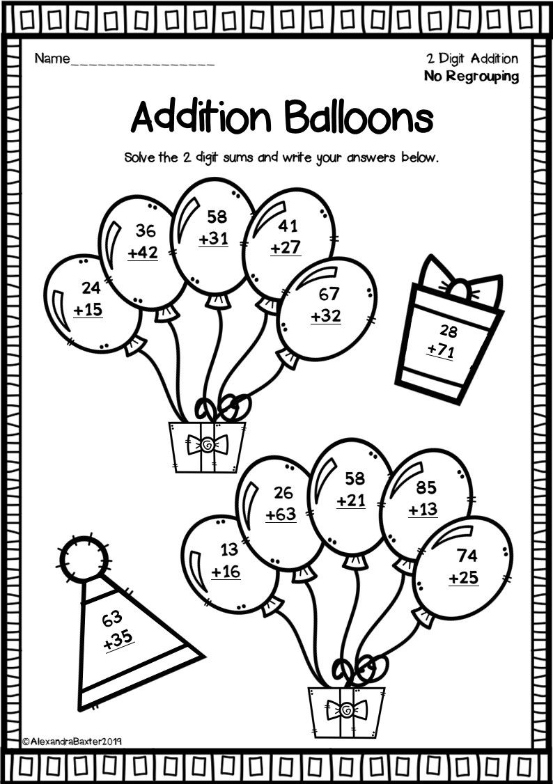 This Resource Includes 5 Fun Math Worksheets Each Worksheet Features A Selection Of 2 Digit Double Digi Fun Math Worksheets Math Addition Addition Worksheets [ 1126 x 794 Pixel ]