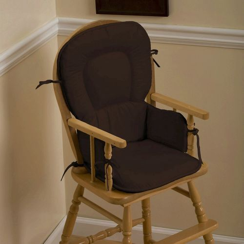 high chair pads for a wooden high chair - I like the style, lots of ...