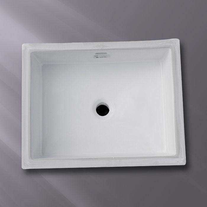 Shop Acri-tec Industries 36970 Undermount Ceramic Rectangular Sink at Lowe