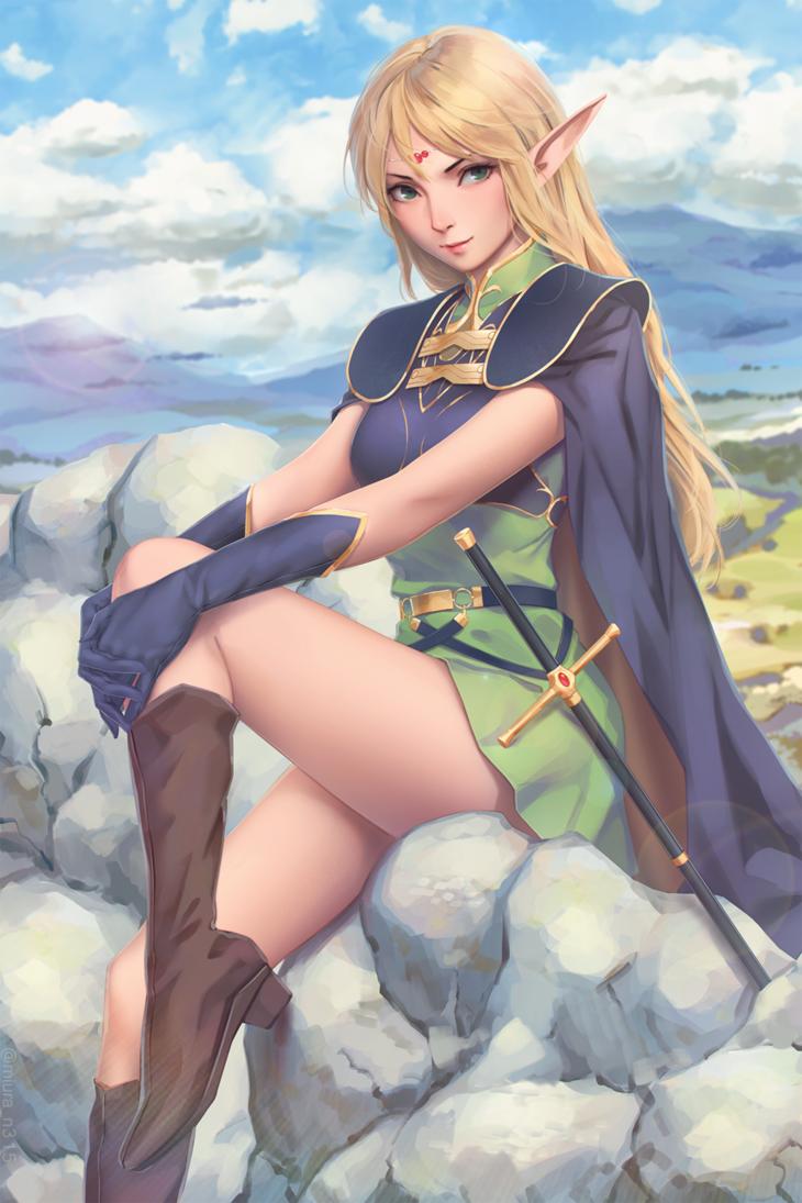 Imgur Com Fantasy Girl Anime Elf Fantasy Character Design